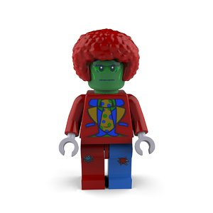 3D clown costume