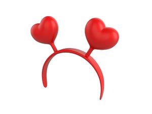 heart headband model