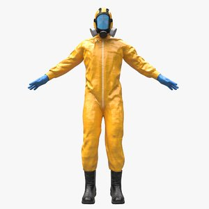 3D hazmat worker clothes