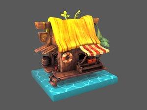 3D model fisherman house