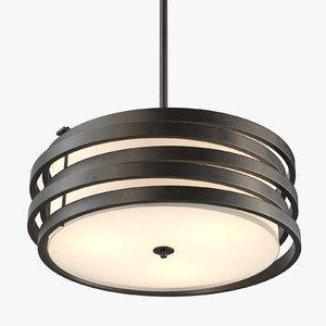 kichler roswell light pendant 3D model