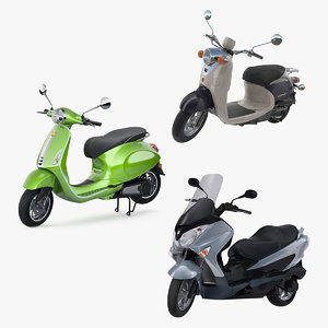 3D scooter motorcycles rigged 2