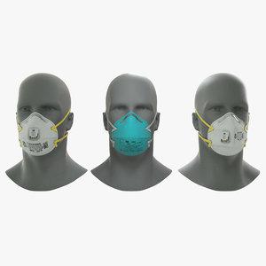 n95 respirator mask 3D model
