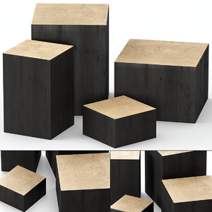 slab table coffee 3D model