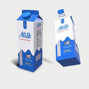 milk carton - 3D model