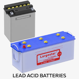 3D lead acid batteries model