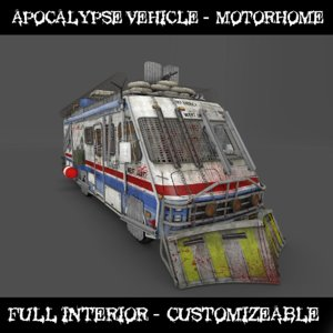 3D apocalypse motorhome model