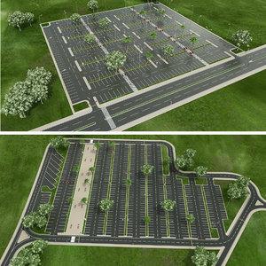 car park 3D model