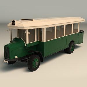 3D model vintage bus