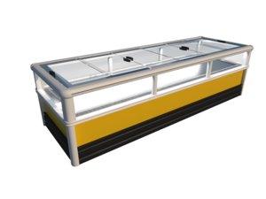 freezing cabinet supermarket refrigerator 3D