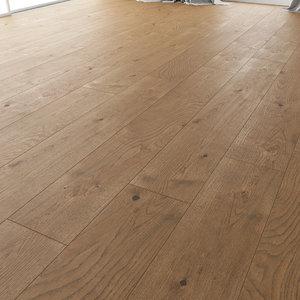 3D wood floor oak estate model