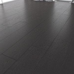 wood floor oak black 3D model