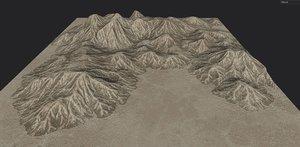 desert mountain landscape model