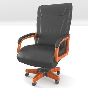 3D model leather chair chairman