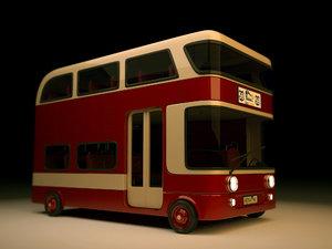 stylized bus 3D model