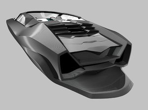 3D boat powerboat