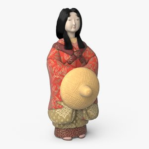 3D japanese geisha doll