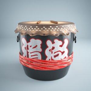 pbr drum 3D