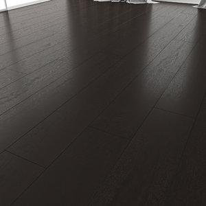 wood oak floor black 3D
