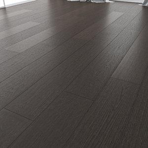 3D wood floor oak black