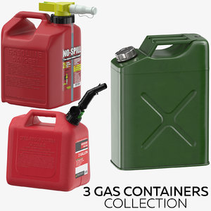 3 gas containers 3D model