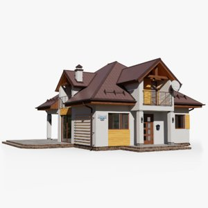 gameready house 10 cottage 3D model