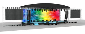 big stage truss 3D model