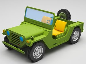 3D jeep military model