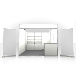 3m x scale white 3D model