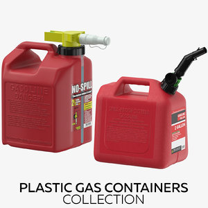 3D plastic gas containers