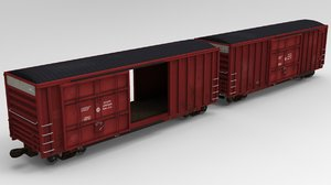 3D model box car boxcar