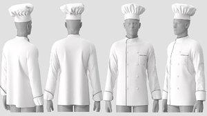 3D chef jacket