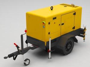 3D electric generator model