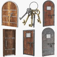 Medieval Doors Collection With Key chain