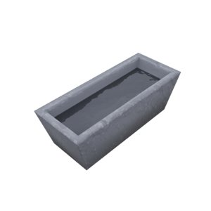 water trough 3D model
