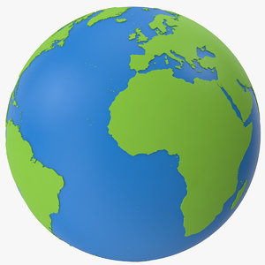 3D globe solid color model