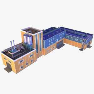 industrial building 14 3D model