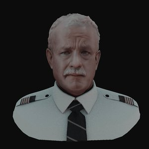 3D tom hanks captain sully