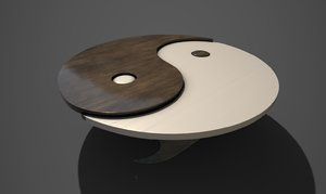 3D table ying yang model