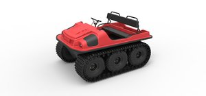 argo 6x6 track 3D model