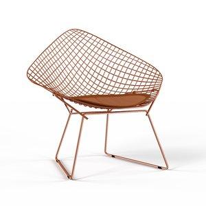 3D model chair diamond bertoia