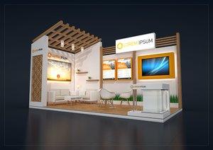 exhibition stand mpm 6x3m 3D