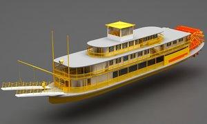 3D ship river boat