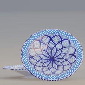 3D model plate designed