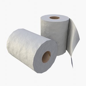 asset toilet paper rolls 3D model
