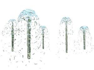 water spray 3d obj