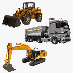 3D model construction vehicle