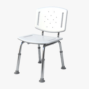 hospital shower chair 3D model