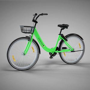 3D model gobee bike sharing