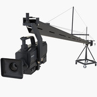 Camera Crane with Full HD Camcorder Sony